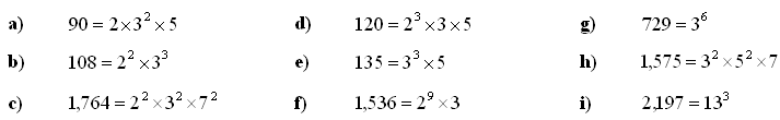Divisibility of natural numbers - Answers to Exercise 3