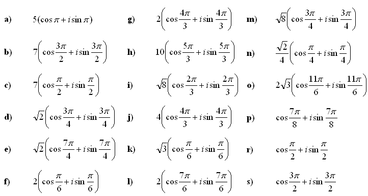 Complex numbers and complex equations - Answers to Exercise 5