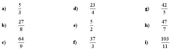 Fractions and Decimals - Answers to Exercise 3