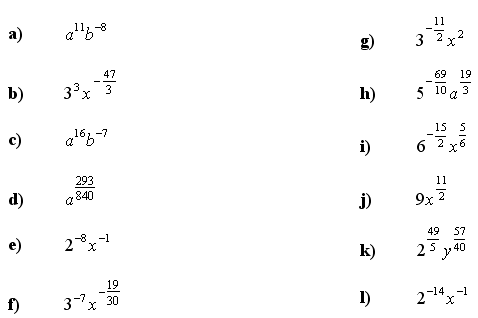 Algebraic fractions - Answers to Exercise 4