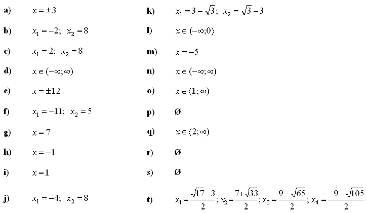 Linear equations and inequalities - Answers to Exercise 3