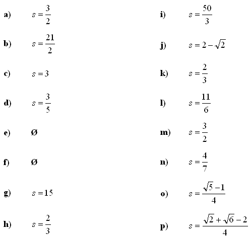 Infinite series and sums - Answers to Exercise 1