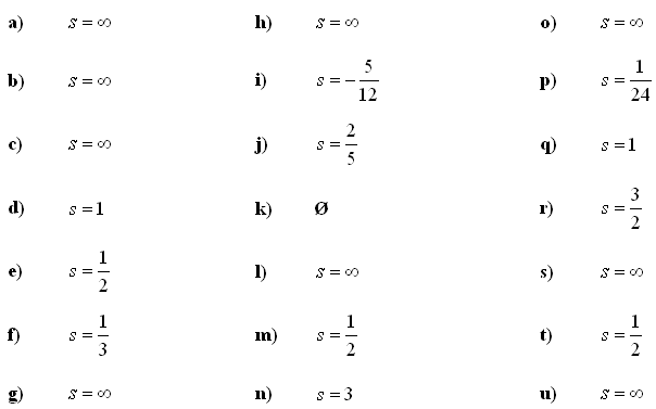 Infinite series and sums - Answers to Exercise 2