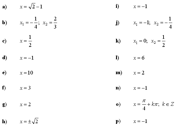 Infinite series and sums - Answers to Exercise 3