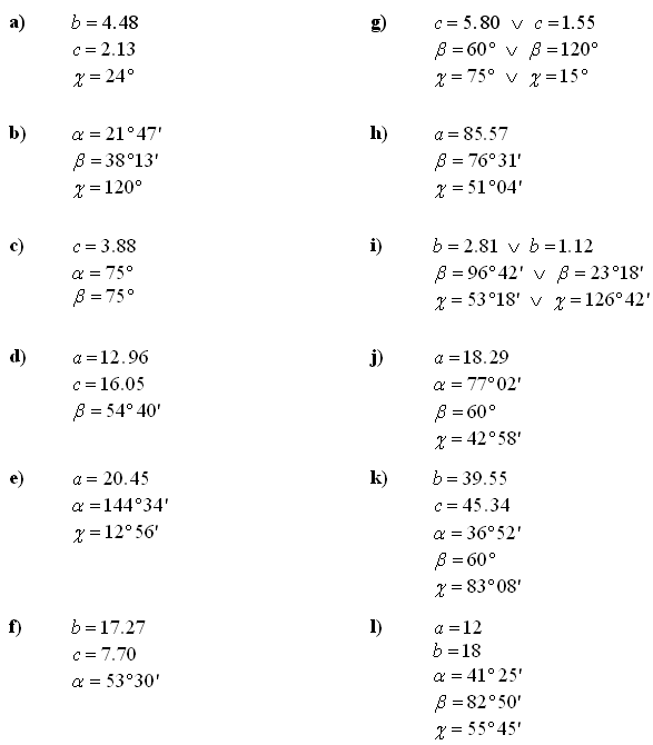 Trigonometry and trigonometric expressions - Answers to Exercise 2