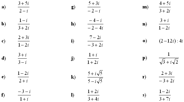 Complex numbers and complex equations - Exercise 4