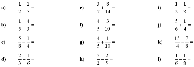 Fractions and decimals - Exercise 1