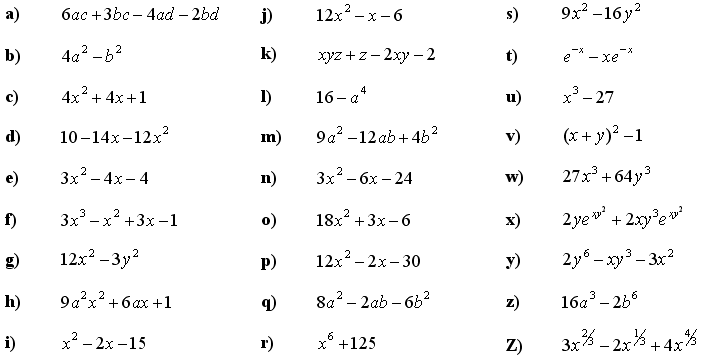 Formulas, expending, factoring and grouping the terms - Exercise 4