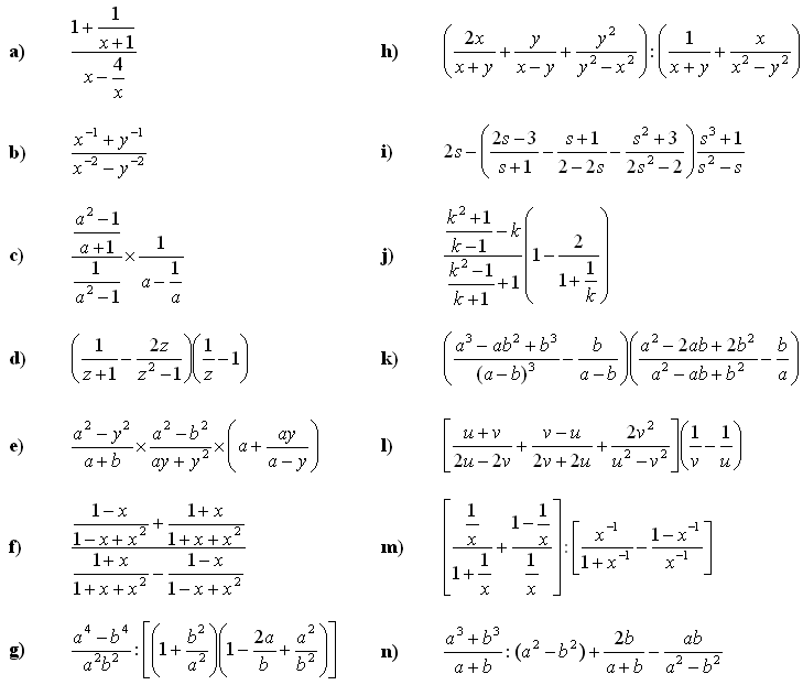 Algebraic fractions - Exercise 3
