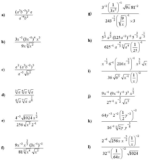 Math Exercises Math Problems Algebraic Fractions