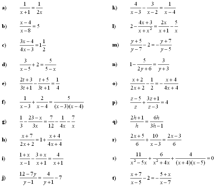 Linear equations and inequalities - Exercise 4