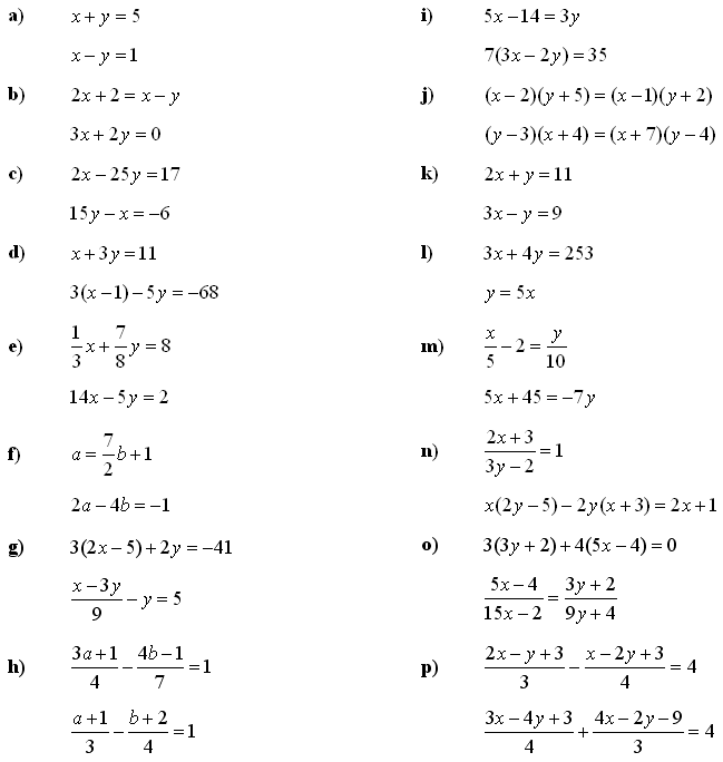 Systems of linear equations and inequalities - Exercise 1
