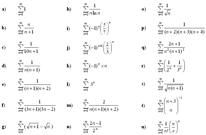 Infinite series and sums - Exercise 2