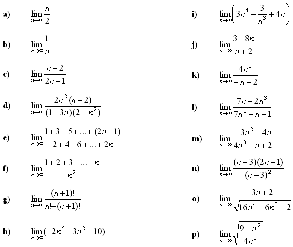 Limit of a sequence - Exercise 1