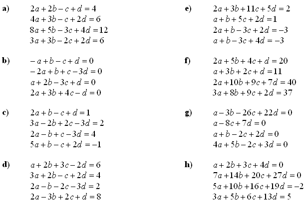 System of equations solved by matrices - Exercise 2
