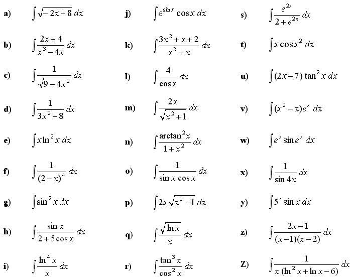 Indefinite integral of a function - Exercise 7